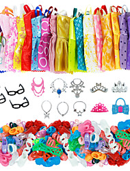 cheap -Doll accessories Doll Clothes Doll Dress Clothing Tulle Lace Fabrics Simple Creative Kawaii For 11.5 Inch Doll Handmade Toy for Girl's Birthday Gifts  Random Color