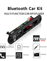 cheap -Big Color Screen Car Audio USB TF FM Radio Module Wireless Bluetooth 5V 12V MP3 WMA Decoder Board MP3 Player with Remote Control