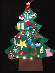 cheap -Christmas tree Bell Santa Claus Decoration Light Night Light Christmas Decoration ON / OFF Christmas AA Batteries Powered