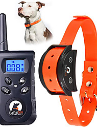 cheap -Dog Training Anti Bark Collar Shock Collar Electronic Dog Pets Waterproof Trainer Plastic Behaviour Aids 2 in 1 Obedience Training For Pets