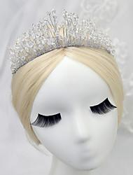 cheap -Crystal / Alloy Headpiece with Crystal 1 Piece Wedding Headpiece
