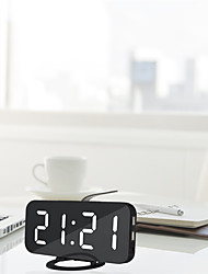 cheap -Alarm Clock Digital Electronic Smart Mechanical LED Display Time Table Desk 2 USB Charger Ports For Iphone Android Mirror Snooze