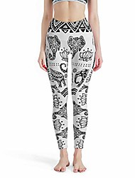 cheap -women's compression fitness yoga pants elephant power flex pants in many styles white s