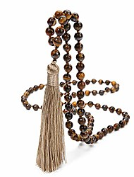 cheap -natural tassel stones bead necklace yoga meditation statement buddhist rosary prayer