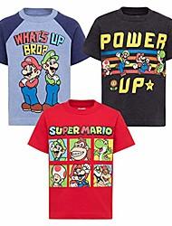 cheap -nintendo toddler boys 3 pack t-shirts luigi bowser yoshi toad 2t