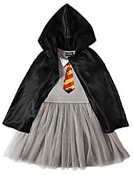 cheap -little girls hogwarts sequin dress and cloak (6 / 6x) gray