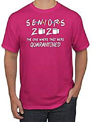 cheap -seniors 2020 the one when they where quarantined graduation social distance | mens pop culture graphic t-shirt, fuschia, 4xl