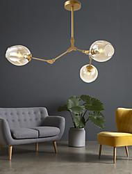 cheap -3-Light 39 cm Creative Chandelier Metal Glass Sputnik Geometrical Artistic Modern 110-120V 220-240V