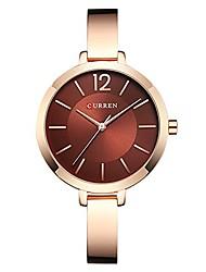 cheap -curren women watches full steel band jewelry quartz watch women dress wristwatches lady (rose gold red)