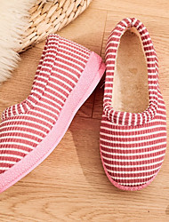 cheap -Women's Slippers & Flip-Flops Indoor Shoes Flat Heel Round Toe Casual Daily Walking Shoes Suede Pink Brown Gray
