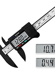 cheap -Digital vernier caliper inch millimeter conversion measuring tool liquid crystal electronic caliper 0-100 up 1 down 2 Button plastic measuring tool