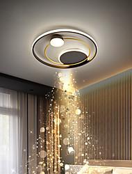 cheap -LED Ceiling Light 42cm 52cm Nordic Art Acrylic LED Bedroom Ceiling Lamp Gold Black Circular Multi Circle LED Ceiling Light Luxury AC220V