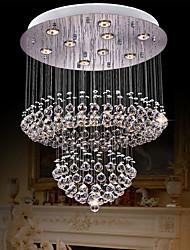 cheap -60 cm Crystal Chandelier Triclolor Light Ceiling Light Stainless Steel Electroplated Modern 110-120V 220-240V