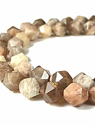 cheap -[abcgems] madagascan chocolate moonstone aka peach moon stone (exquisite flash) 8mm precision-star-cut beads for beading & jewlery making