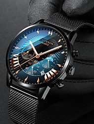 cheap -Men's Dress Watch Quartz Stylish Casual Calendar / date / day Analog White Black / One Year / Titanium Alloy