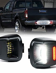 cheap -white led license plate light assembly w/ red running lamp replacement tag lights for nissan frontier titan armada xterra suzuki equator pairs