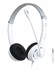 cheap -ouniman adjustable gaming headset, 3.5mm plug over-ear headphone, 7.1 surround sound earphone with noise cancel mic, compatible with n-switch, ps4, xbox one, laptops, tablet(white single plug)