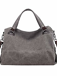 cheap -women's large capacity shoulder bag with removable strap gray one size