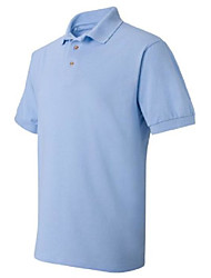 cheap -055x adult's comfortsoft pique knit sport shirt light blue 3x-large