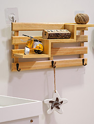 cheap -Nail Free Key Hook Wall Decoration Shelf