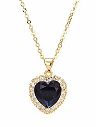 cheap -titanic heart of the ocean neckalce,  sterling silver necklace pendants jewelry mother's day gift (style 2)