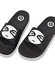 cheap -slippers for men indoor outdoor, cozy cotton warm caraton open toe shoes clog winter thermal scuff mules waterproof anti-skid rubber sole sandals black white panda size 10 11