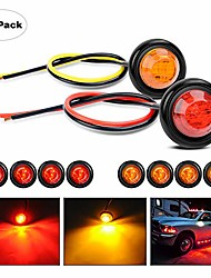 "cheap -tl-02 10 pcs 3/4"" round mini led front rear side indicator bullet marker light for truck rv car bus trailer van caravan boat (12v, red+amber), 2 years warranty"