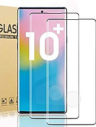 cheap -2PCS Full Curved Tempered Glass For Samsung Galaxy Note 10Plus Tempered Glass Screen Protector Fingerprint Sensor Support No Bubble Full Coverage For Galaxy Note 10Plus /Note 10 Lite