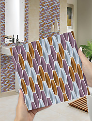 cheap -Imitation Epoxy Tile Sticker Color Mosaic Purple Gia Tile Wall Sticker House Renovation DIY Self-adhesive PVC Wallpaper Painting Kitchen Waterproof and Oilproof Wall Sticker