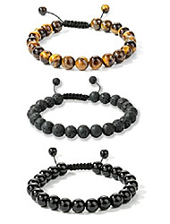 cheap -8mm natural stone bracelets for men bead bracelets braided adjustable