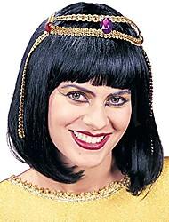 cheap -women's wig cleopatra, black, standard