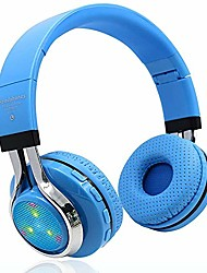 cheap -Bluetooth Headphone Wireless Stereo Headset Foldable Headband Earphone Noise Cancelling Headphones Support FM Radio TF Card with Mic Handsfree LED Flash
