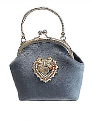 cheap -lolita handbag purses for women sweet purse victorian (gray)