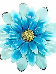 cheap -metal flower wall art decor blue sunflower sculpture for home garden yard indoor outdoor 11.8 inch,blue