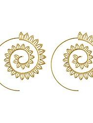 cheap -spiral alloy water drop shape party hoop earrings fashion lady eardrop jewelry - golden