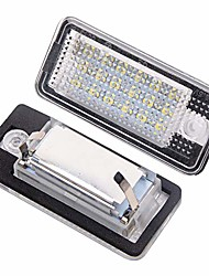 cheap -license plate light 2pcs plug and play 12v 6000k pure white light led light for audi a3 a4 a6 a8 s6 q7 rs4 cabriolet rs4 rs6 avant quattro plus