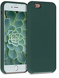cheap -tpu silicone case compatible with apple iphone 6 / 6s - soft flexible rubber protective cover - moss green
