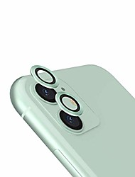 cheap -camera lens protector compatible with iphone 11 6.1 inch, tempered glass with metal aluminum alloy, anti scratch 9h hardness hd clear lens protector, green
