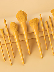 cheap -Professional Makeup Brushes 10pcs Cute Soft Full Coverage Lovely Comfy Wooden / Bamboo for Makeup Tools Eyeliner Brush Blush Brush Foundation Brush Makeup Brush Lip Brush Eyebrow Brush Eyeshadow Brush