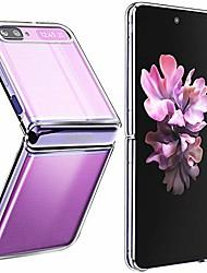 cheap -samsung galaxy z flip case(2020),[slim thin] crystal hard pc and soft tpu bumper clear shockproof anti-scratch transparent phone case (crystal clear)