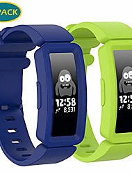 cheap -2 pack Compatible with fitbit ace 2 bands for kids, boys girls soft silicone bracelet accessories sports watch straps wristbands replacement watch band for fitbit ace2