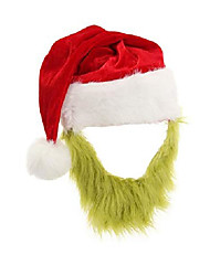 cheap -the grinch plush hat with beard red