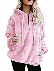 cheap -women's hoodie autumn winter long sleeve warm fluffy sweatshirt pullover top jumper (xx-large, pink)