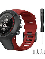 cheap -bands for suunto ambit 3,premium replacement stap band sport wristband for suunto ambit 1/2/2s/2r/3 sport/3 run/3 peak smartwatches(wine red)