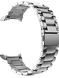 cheap -watch band compatible with gear s2, stainless steel metal replacement strap wrist bands with link removal tool compatible with samsung gear s2 sm-r720 / sm-r730 smart watches - silver