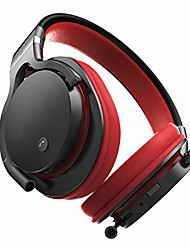 cheap -active noise cancelling headphones, wireless over-ear bluetooth headphones, support tf card, wired connection, with memory foam ear cups stereo headset, for travel office tv,red