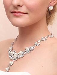 cheap -Women's Drop Earrings Necklace Imitation Pearl Earrings Jewelry White For Wedding