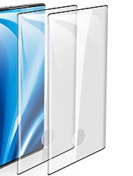 """cheap -2-pack galaxy note 10 tempered glass screen protector, 9h hardness/anti-fingerprint/ultra-clear/bubble free 3d curved tempered glass film compatible for samsung galaxy note 10 (6.3"""")"""