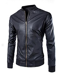 cheap -bomber jacket men, black genuine lambskin leather jacket for men, novelty style … (xl)
