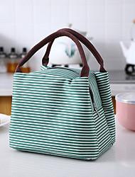 cheap -Unisex Bags Oxford Cloth Lunch Bag Top Handle Bag Zipper Stripes Daily 2021 Handbags Black Red Green Royal Blue